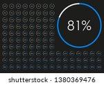 percentage diagram set.... | Shutterstock .eps vector #1380369476