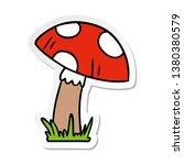 Hand Drawn Sticker Cartoon...