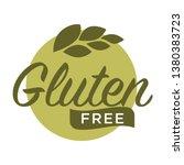 gluten free in cereal grains... | Shutterstock . vector #1380383723