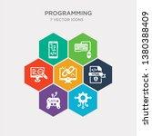 simple set of engineering  game ... | Shutterstock .eps vector #1380388409
