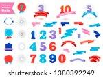 vector set of anniversary dates....   Shutterstock .eps vector #1380392249