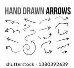 the vector hand drawn arrow... | Shutterstock .eps vector #1380392639