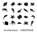 vector set of silhouettes of 20 ...