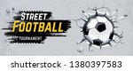 street football design with... | Shutterstock .eps vector #1380397583
