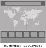 infographics world maps of... | Shutterstock . vector #1380398153