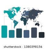 infographics world maps of... | Shutterstock . vector #1380398156