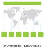 infographics world maps of... | Shutterstock . vector #1380398159