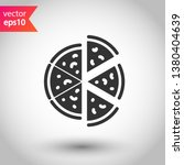 pizza vector icon. sliced pizza ... | Shutterstock .eps vector #1380404639