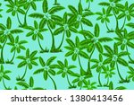 seamless tropical palms pattern.... | Shutterstock .eps vector #1380413456