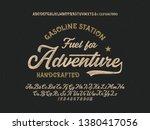 vintage brush script modern... | Shutterstock .eps vector #1380417056