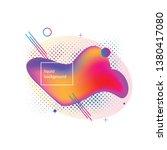 liquid background for websites  ... | Shutterstock .eps vector #1380417080