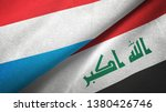 luxembourg and iraq two flags...   Shutterstock . vector #1380426746