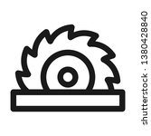 circular saw icon. line style | Shutterstock .eps vector #1380428840
