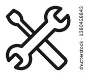 wrench and screwdriver icon.... | Shutterstock .eps vector #1380428843