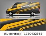 van wrap design. wrap  sticker... | Shutterstock .eps vector #1380432953