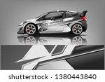 car decal wrap design vector.... | Shutterstock .eps vector #1380443840