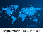 global network connection... | Shutterstock .eps vector #1380444200