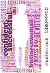 businesswoman info text... | Shutterstock . vector #138044450