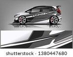 car wrap design vector  truck... | Shutterstock .eps vector #1380447680