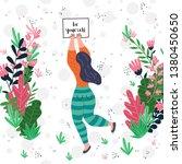 vector illustration of a woman... | Shutterstock .eps vector #1380450650