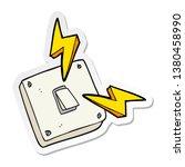 sticker of a cartoon sparking... | Shutterstock . vector #1380458990