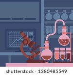 a scientific laboratory with... | Shutterstock .eps vector #1380485549