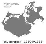 vorpommern ruegen grey county... | Shutterstock .eps vector #1380491393