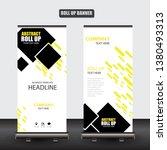 roll up business brochure flyer ... | Shutterstock .eps vector #1380493313