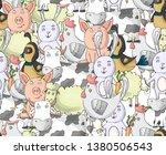 farm cute animals collection... | Shutterstock .eps vector #1380506543