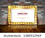 vector marquee light board sign ... | Shutterstock .eps vector #1380512969