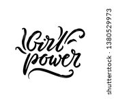 girl power  grl pwr hand drawn... | Shutterstock .eps vector #1380529973