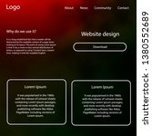 light green  red vector web ui...