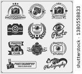 set of photo studio and photo... | Shutterstock .eps vector #1380558833