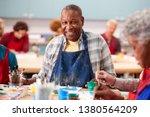 portrait of retired senior man... | Shutterstock . vector #1380564209