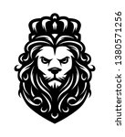 king lion in vintage style.   Shutterstock .eps vector #1380571256