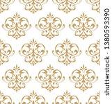 beautiful damask pattern. royal ... | Shutterstock . vector #1380593390