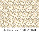 beautiful damask pattern. royal ... | Shutterstock . vector #1380593393