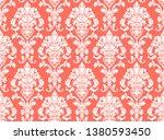 beautiful damask pattern. royal ... | Shutterstock . vector #1380593450