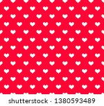 seamless pattern with hearts.... | Shutterstock . vector #1380593489