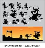 cartoon animal running... | Shutterstock .eps vector #138059384