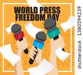 world press freedom day... | Shutterstock .eps vector #1380594239