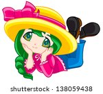 cute and colorful little girl | Shutterstock . vector #138059438