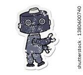 distressed sticker of a cartoon ... | Shutterstock . vector #1380600740