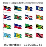 wavy flags of independent... | Shutterstock .eps vector #1380601766
