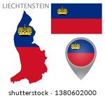 colorful flag  map pointer and... | Shutterstock .eps vector #1380602000