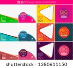 multipurpose social media kit... | Shutterstock .eps vector #1380611150