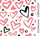 vector background with hearts.... | Shutterstock .eps vector #1380612530