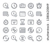 calendar and clock related line ... | Shutterstock .eps vector #1380620849