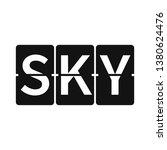 sky logo. airport board vector