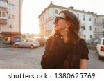 pretty positive young hipster... | Shutterstock . vector #1380625769